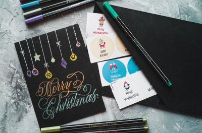 DIY Handlettering – Gestalte deine Weihnachtskarten selbst